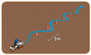 langzame slalom